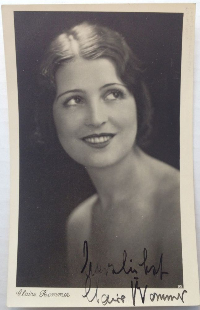 Signed Vintage Postcard Photo. Claire ROMMER, 1904 - 1996.
