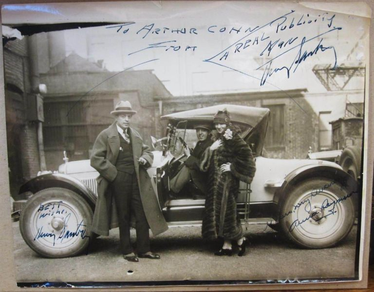 Inscribed Vintage Photograph Signed Twice. Henry SANTRY.
