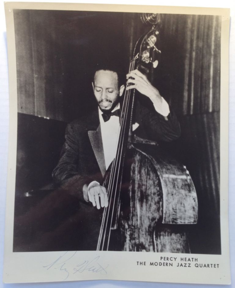 Signed Vintage Photograph. Percy HEATH, 1923 - 2005.