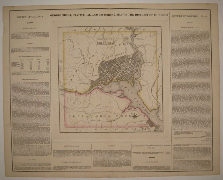 Geographical, Statistical, and Historical Map of the District of Columbia. CAREY, LEA.