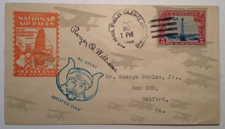 Signed First Day Cover. Roger Q. WILLIAMS, 1894 - 1976.
