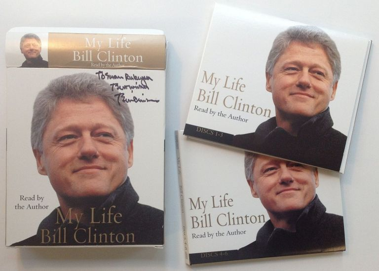 """Signed Audio Edition of """"My Life"""" Bill CLINTON."""