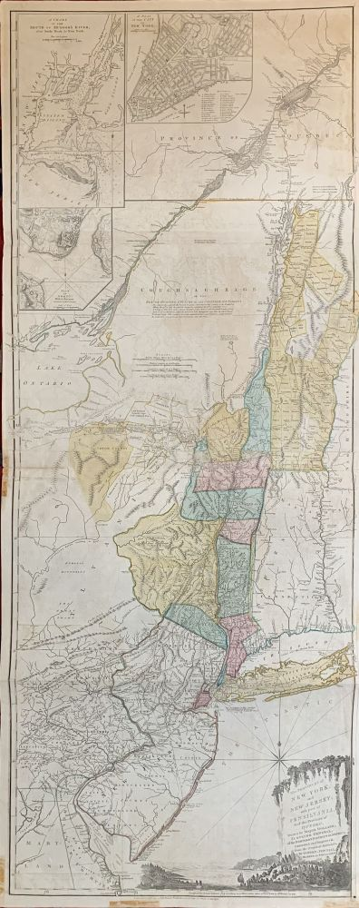 The Provinces of New York and New Jersey with part of Pensilvania, and the Province of Quebec, Drawn by Major Hollnad, Surveryor General, of the Northern District in America. Corrected and Improved, from the Original Materials by Govern: Pownall, Member of Parliament, 1776. Thomas JEFFERYS.