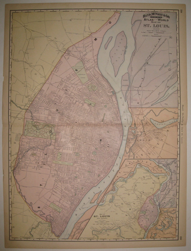 Rand, McNally & Co's Indexed Atlas of the World Map of St. Louis. RAND MCNALLY, CO.