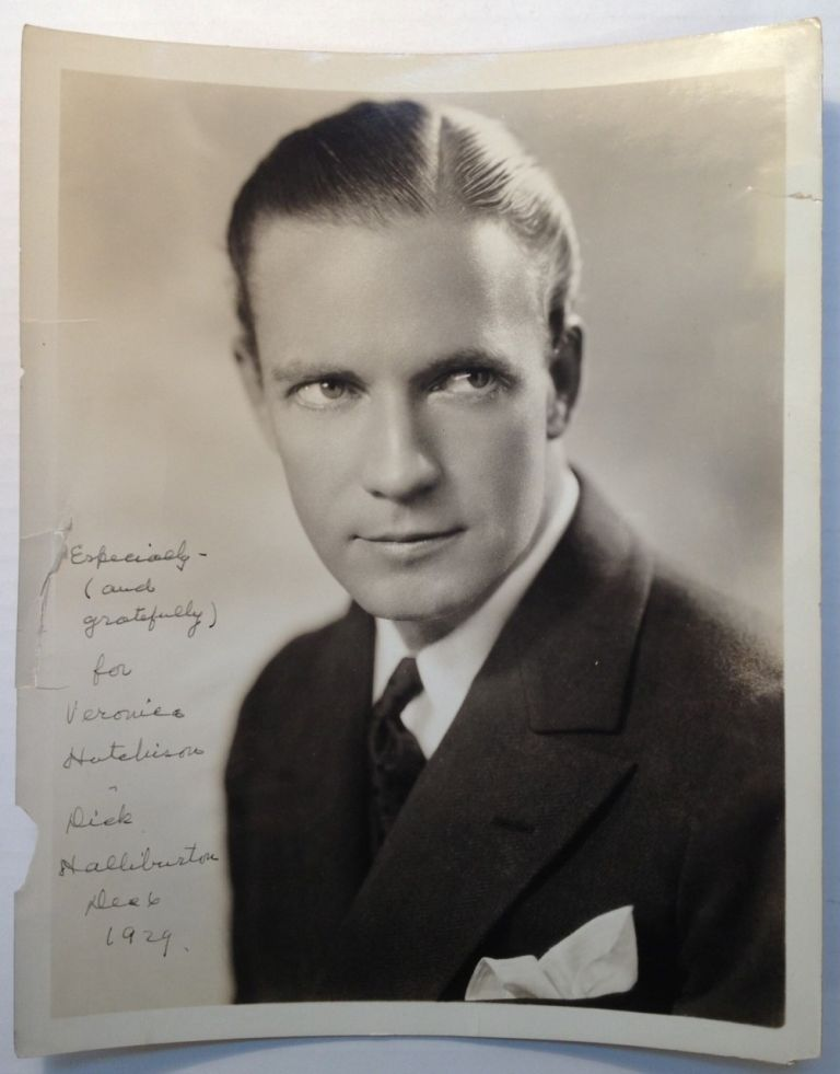 Inscribed Photograph. Richard HALLIBURTON, 1900 - 1939.