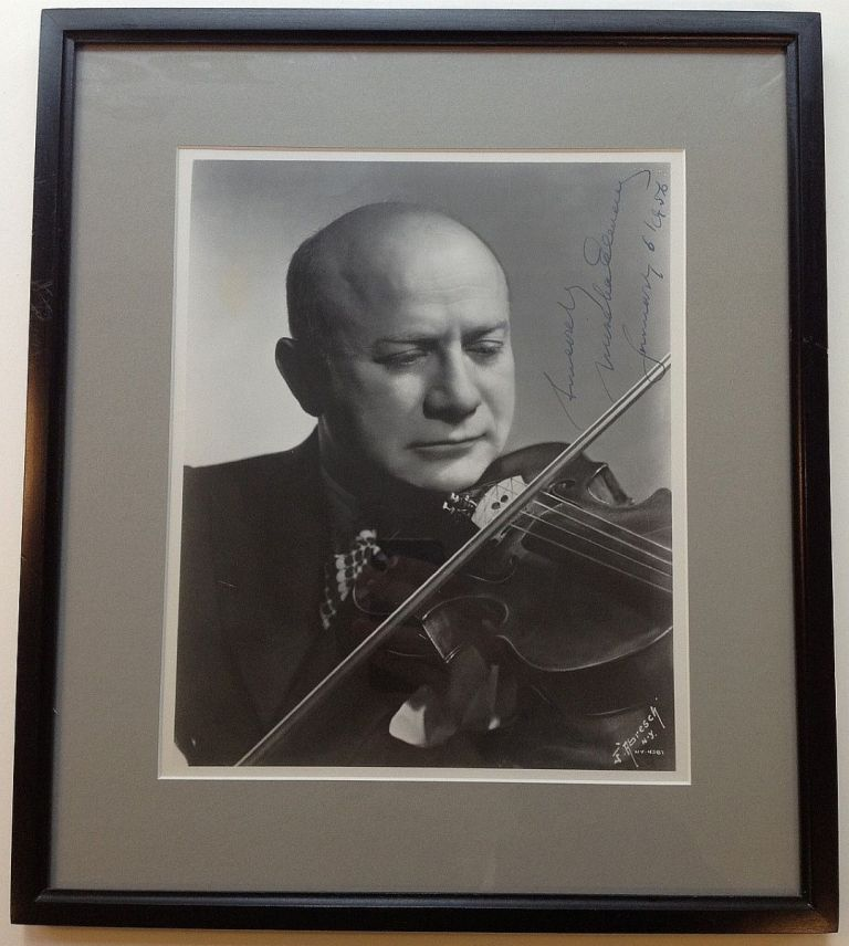 Framed Signed Photograph. Mischa ELMAN, 1891 - 1967.