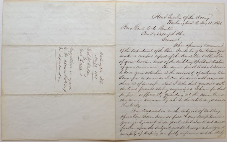 Historically Important War-Date Autographed Letter Signed. George B. McCLELLAN, 1826 - 1885.