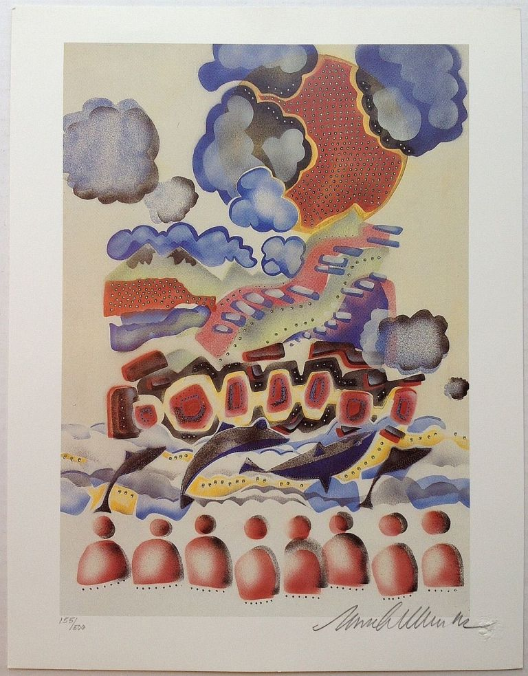Signed Lithograph. Mark WIENER, 1951 - 2012.