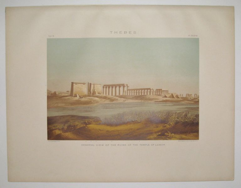 Thebes. General View of the Ruins of the Temple of Luxor. Samuel Augustus BINION.