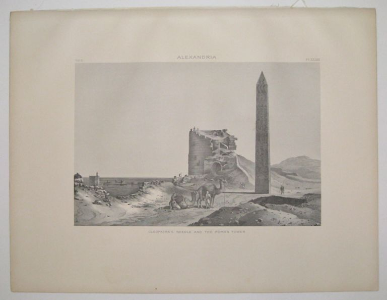 Alexandria. Cleopatra's Needle and the Roman Tower. Samuel Augustus BINION.