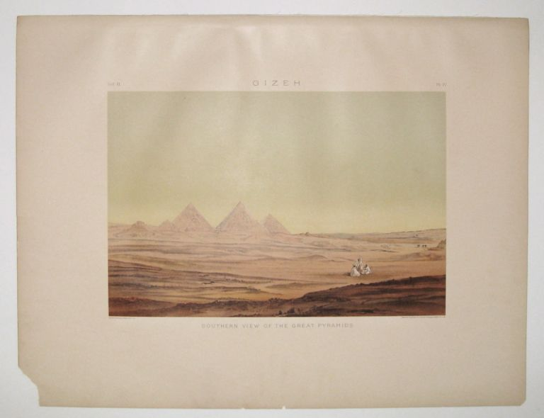 Gizeh. Southern View of the Great Pyramids. Samuel Augustus BINION.