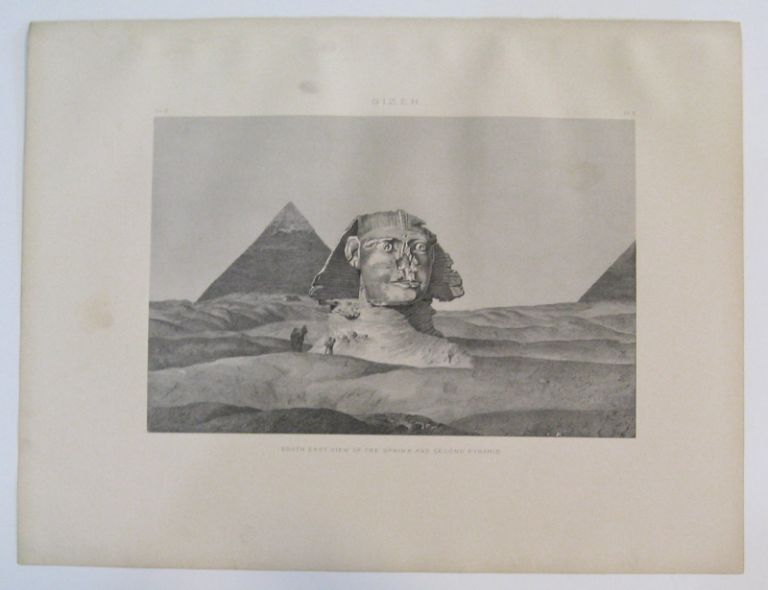 Gizeh. South East View of the Sphinx and Second Pyramid. Samuel Augustus BINION.