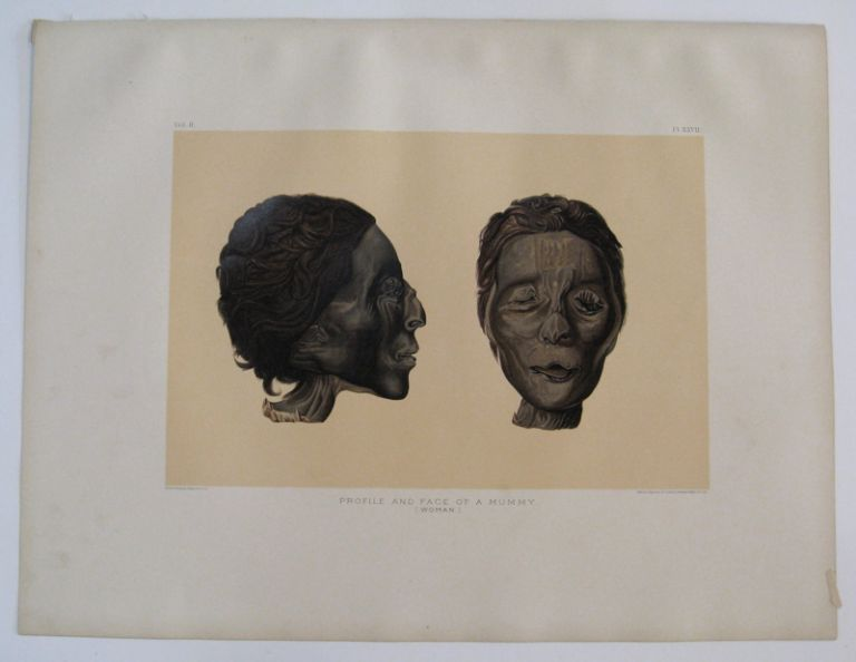 Thebes. Profile and Face of a Mummy. (Woman.). Samuel Augustus BINION.