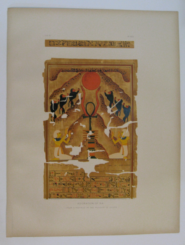 Adoration of Ra. (From a Papyrus in the Museum of Leiden.). Samuel Augustus BINION.