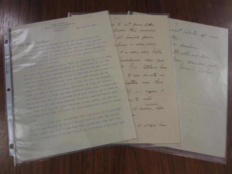 Typed and Handwritten Letter Signed to his Daughters. CIVIL WAR -- Gen. Joseph Wheeler, 1836 - 1906.
