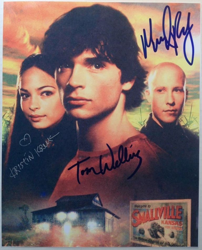 "Signed Color Photograph. ""SMALLVILLE"" - Television Cast."