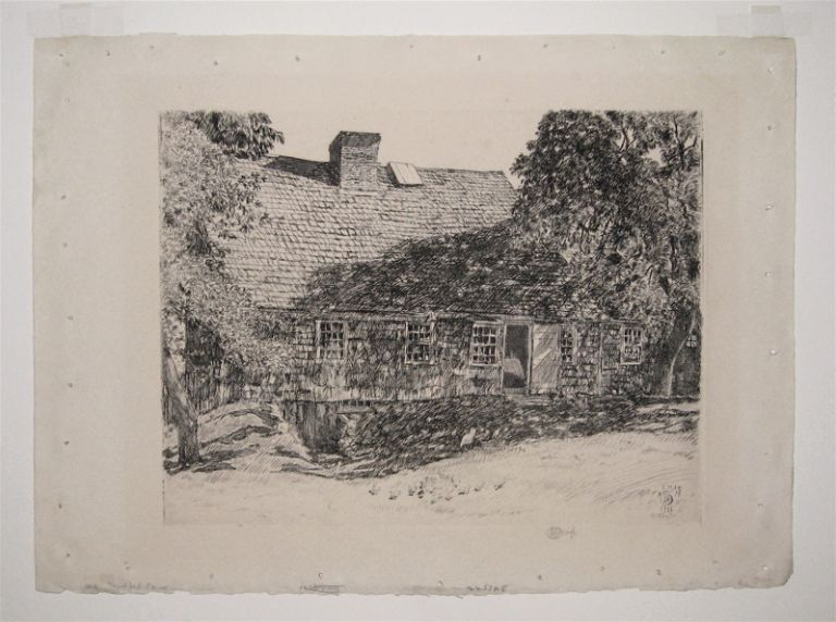 The Old Mulford House (Easthampton). Childe HASSAM.