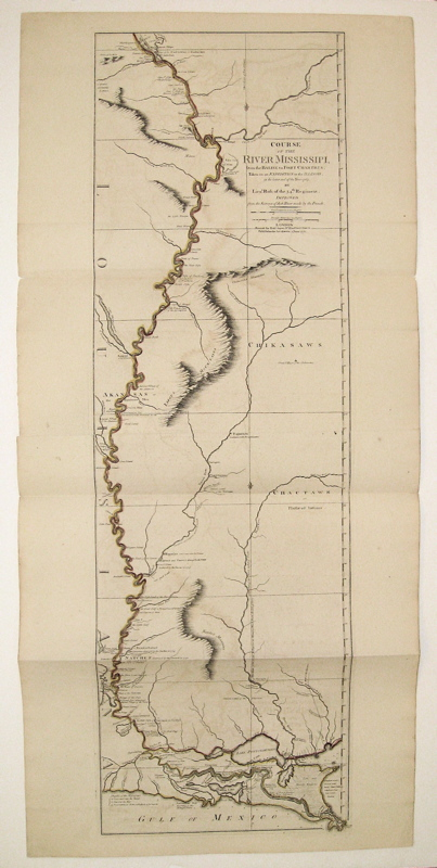 Course of the River Mississippi from the Balise to Fort Chartres; Taken on an expedition to the Illinois, in the later end of Year 1765. Lieut ROSS.