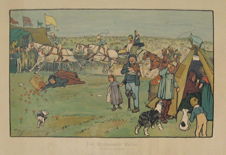 The Bluemarket Races. The Arrival on the Course. Cecil ALDIN.
