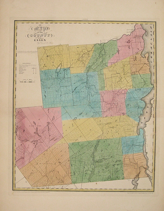 Map of the County of Essex. David H. BURR.
