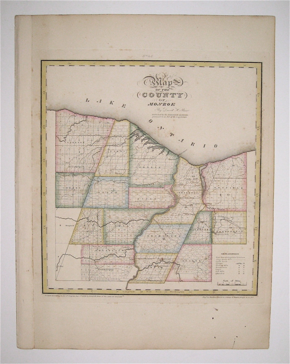 Map of the County of Monroe. David H. BURR.