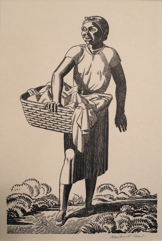 Black Woman Carrying Laundry. Rockwell KENT.