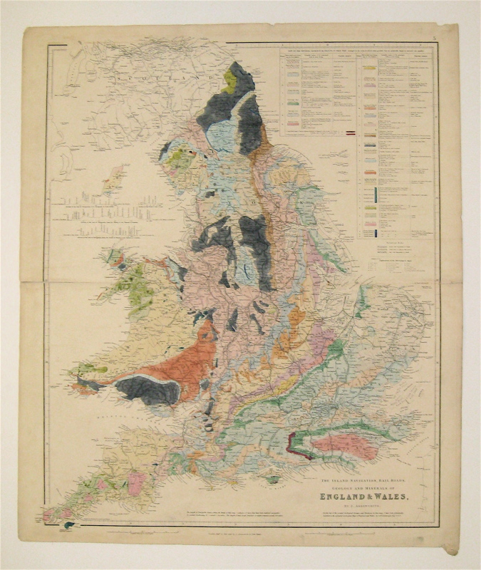 The Inland Navigation, Railroads, Geology and Minerals of England & Wales. John ARROWSMITH.