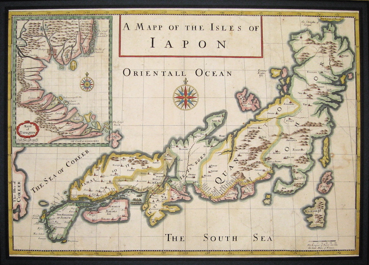 A Mapp of the Isles of Iapon. Jean Baptiste TAVERNIER.