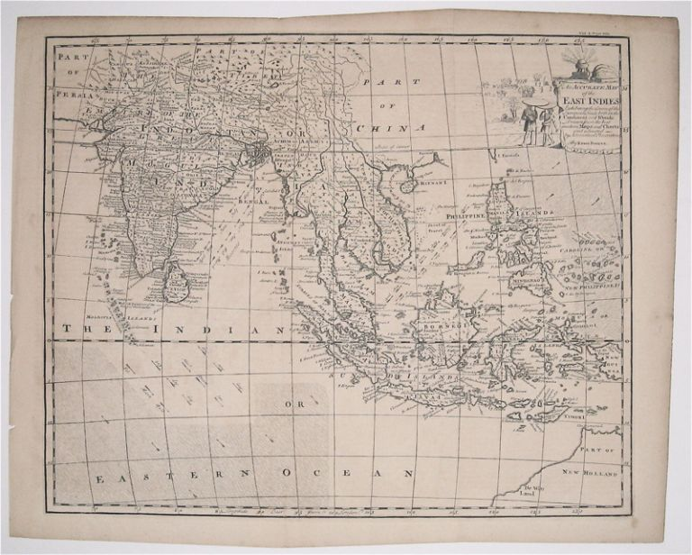 An Accurate Map of the East Indies Exhibiting the Course of the European Trade both on the Continent and Islands. Emanuel BOWEN.