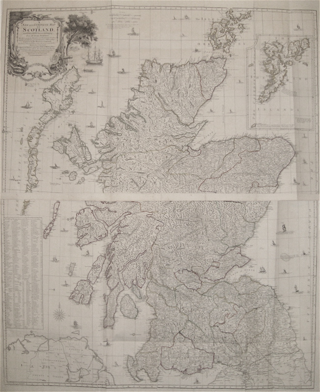 A New and Complete Map of Scotland And Islands thereto belonging. Thomas KITCHIN.