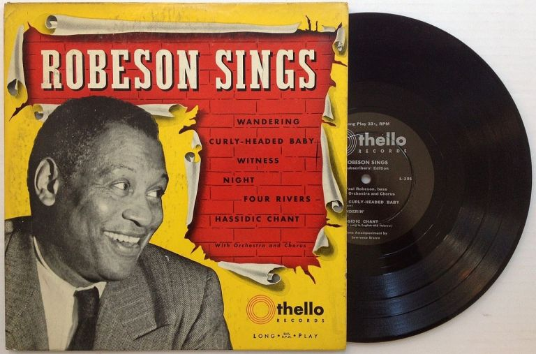 Signed Record. Paul ROBESON, 1898 - 1976.