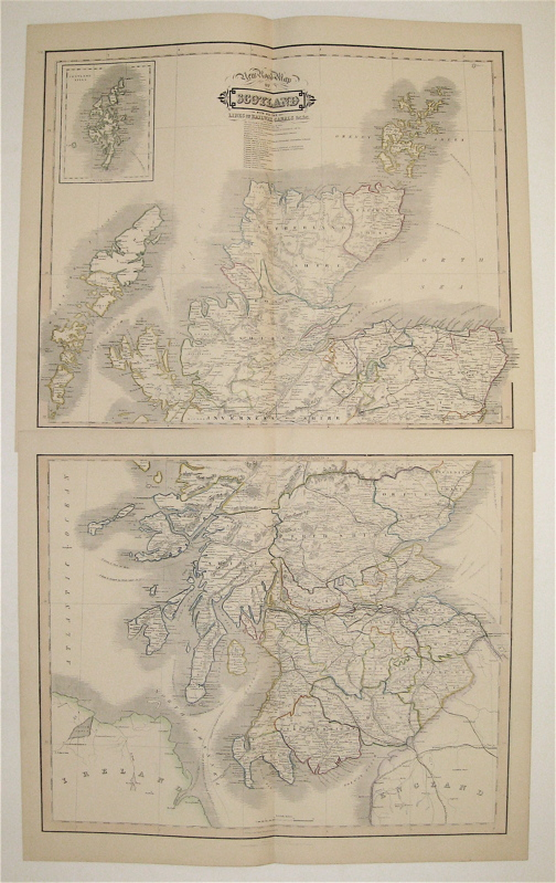 New Road Map of Scotland With All The Lines of Railway, Canals &c &c. William LIZARS.