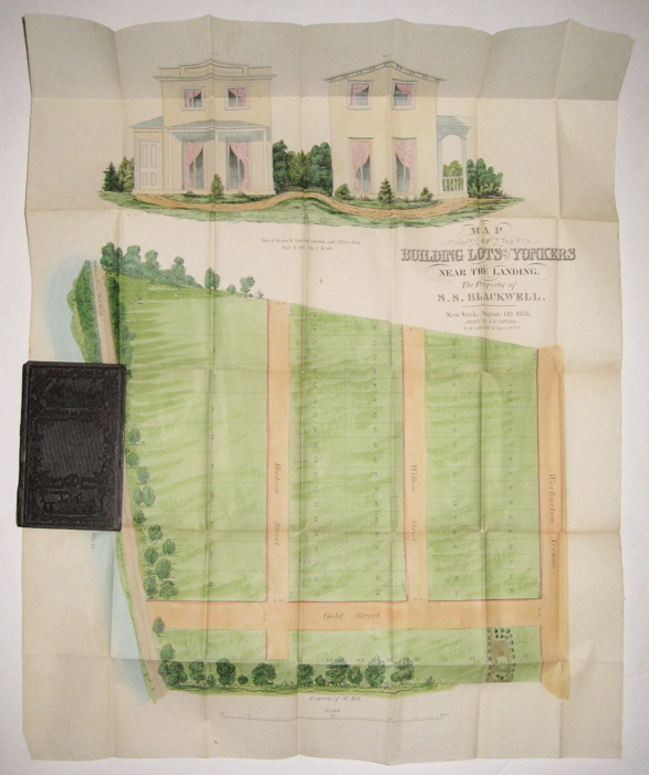 Map of Building Lots at Yonkers Near the Landing.; The Property of S. S. Blackwell. H. R. SAWYER.