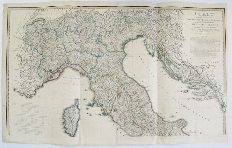 Italy with the Addition of The Southern Parts of Germany as far as Pettau in Stiria; Murlakia, Dalmatia, The Adjacent Countries and All The Illyric Islands. William FADEN, Louis Stanislaw d'Arcy DELAROCHETTE.