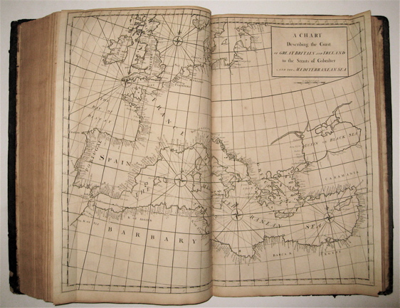 Atlas maritimus & commercialis; or, a general view of the world, so far as relates to trade and navigation / Sailing Directions for All the Known Coasts and Islands on the Glob, with a Sett of Sea-Charts. Nathaniel CUTLER, Sir Edmond HALLEY, John HARRIS, John SENEX, Daniel DEFOE.