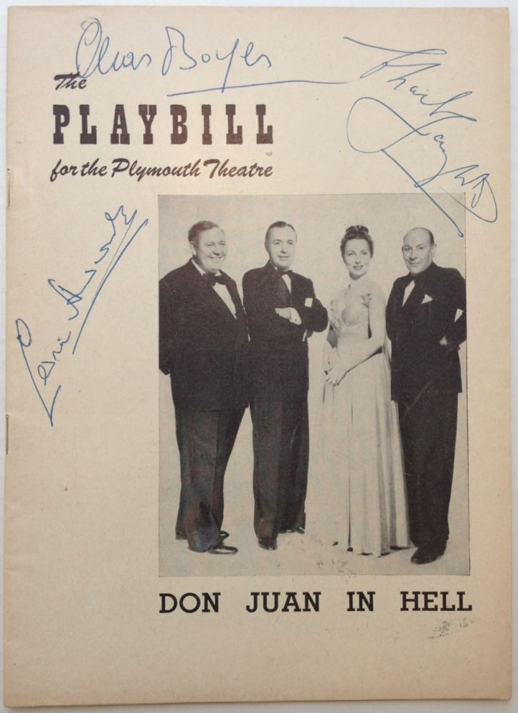 Playbill Signed by Charles Laughton, Charles Boyer, and Cedric Hardwicke. DON JUAN IN HELL.