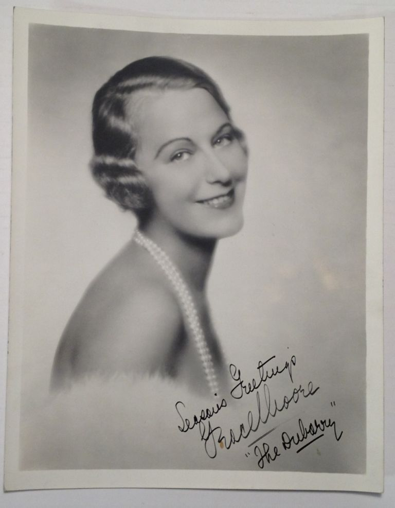 Signed Photograph. Grace MOORE, 1901 - 1947.