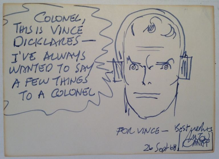 Original Drawing and Inscription. Milton CANIFF, 1907 - 1988.