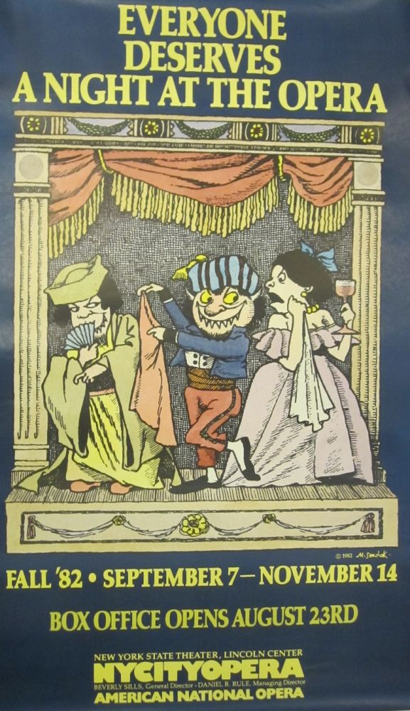 Poster: Everyone Deserves A Night At The Opera. Maurice SENDAK.