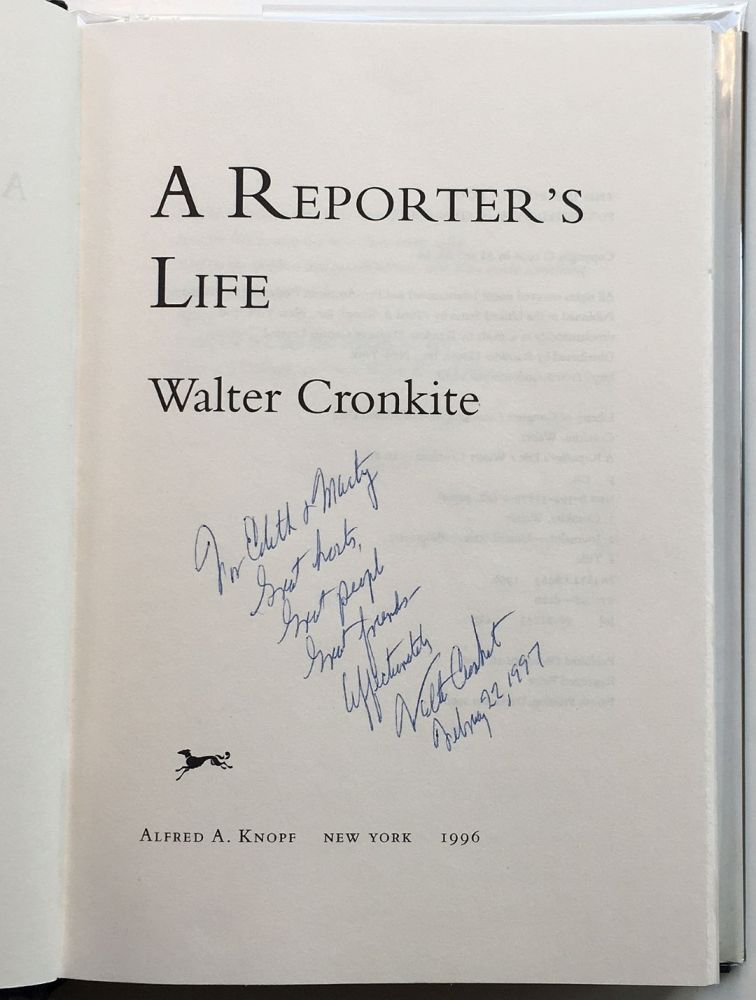 A Reporter's Life. Walter CRONKITE.