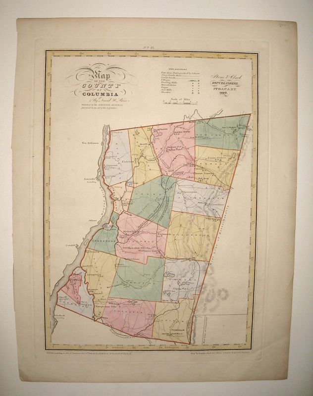Map of the County of Columbia. David H. BURR.