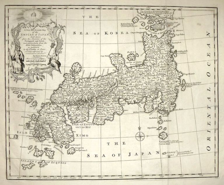 A New and Accurate Map of the Empire of Japan. Emanuel BOWEN.