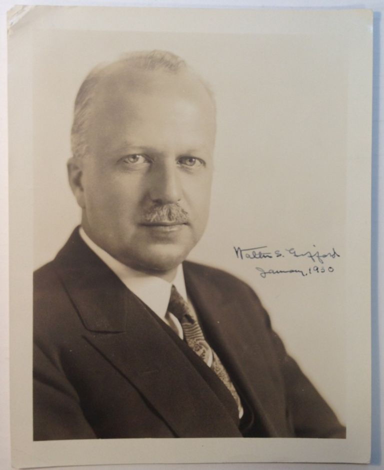 Signed Vintage Photograph. Walter S. GIFFORD, 1885 - 1966.