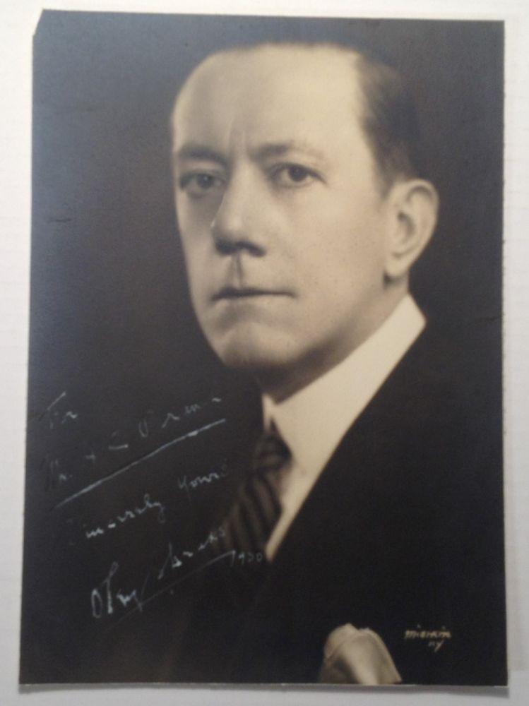 Inscribed Photograph. Oley SPEAKS, 1874 - 1948.