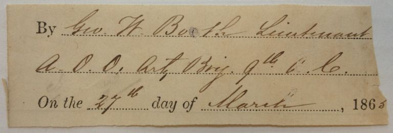 Clipped Signature with Rank. George W. BOOTH.