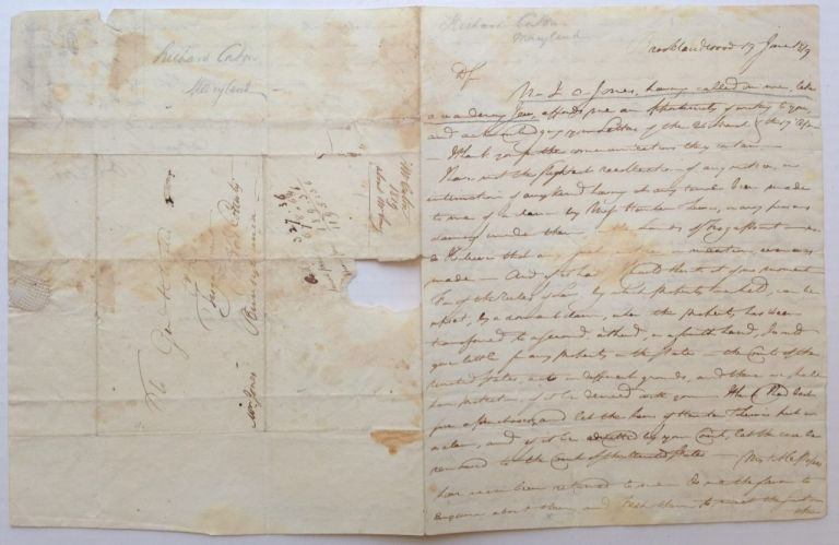 Autographed Letter Signed to a General. Richard CATON, 1750 - 1820.