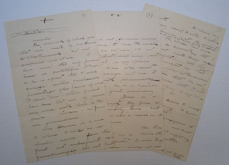 Two Autographed Letters Signed. NEW MEXICO TERRITORY.