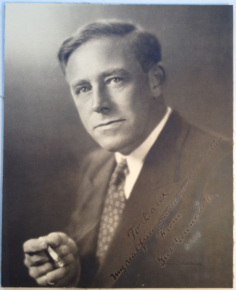 """Inscribed Photograph. August """"Gus"""" GENNERICH, 1887 - 1936."""
