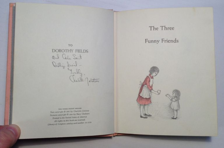 The Three Funny Friends. Charlotte ZOLOTOW.