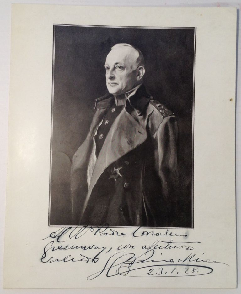 Inscribed Portrait. Miguel Primo de RIVERA.